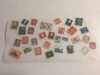 30 WORLDWIDE STAMPS: USED: MOSTLY EUROPE: 1930s-1990s: GOOD CONDITION