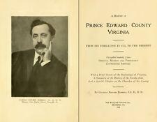 1922 PRINCE EDWARD County, Virginia VA, History & Genealogy Family Tree CD B49