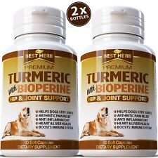 TURMERIC CURCUMIN CAPSULES FOR DOGS DIGESTIVE & JOINT SUPPORT SUPPLEMENT TUMERIC
