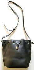 Agnes B. Voyage Small Black Alice Leather Bucket Bag $495