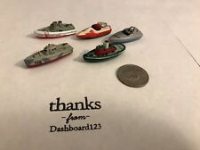 Micro Machines Lot Of 5 Boats Speed Tug V3