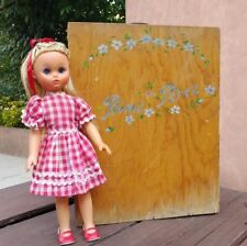 1970's VTG MEXICAN PRIMA PEREZ DOLL (MARIQUITA PEREZ) WITH WOOD TRUNK & OUTFITS