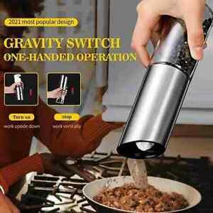 Electric Salt Pepper Grinder USB Rechargeable Pepper Coarseness Mill .