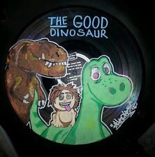 "12"" record hand painted Disney the good dinosaur arlo shortiez ink sign art new"