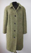 Vintage Aquascutum Fabulous Flecked Green Wool Coat, Size UK 14