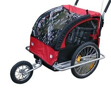 RED LOON TJ2 Bike child trailer + Jogger for 2 Children's NEW