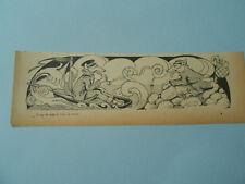 Loup de Mer et Loup de Terre 1903 Humour Image Print