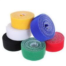 1m*25mm Velcro Stick Cable Ties Velcro Hook Loop Fastening Tape Strip Tie Roll