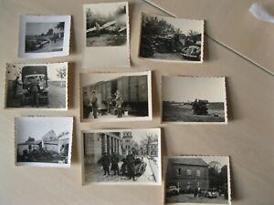 9 Privat Fotos WK 2 Soldaten, Flugzeugwrack Fahrzeuge Polenfeldzug