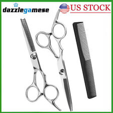 "6""Professional Hair Cutting Kit Thinning Scissors Barber Shears Hairdressing Set"
