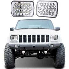 PAIR LED Replacement Headlights For 1986-1995 Jeep Wrangler 1984-2001 Cherokee
