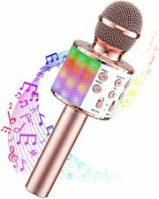 More details for karaoke bluetooth microphone, 5 in 1 wireless microphone for kids adults