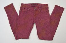 Bullhead Black Skinny Red With Animal Print Juniors Womens Casual Jeans size 1