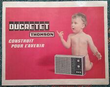 2 Affiches - DUCRETET - THOMSON - Radio - Téléviseur & Enfant - Années 1960 -