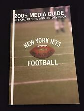 2005 NEW YORK JETS MEDIA GUIDE- BOLLINGER CURTIS MARTIN LAV COLES HERM EDWARDS