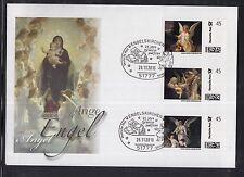 K 01) federale 2010 FDC-portocard individualmente-Angelo chiese cristiano-BAMBINO filiale