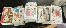 New ListingLot Of 58 Sewing Patterns Mixed McCalls-Butterick-Simplic ity Vintage 60s, 70s 80