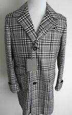 $4680 TOM FORD Stylish Plaid 3/4 Length Coat Overcoat Topcoat Size 48 Euro Small