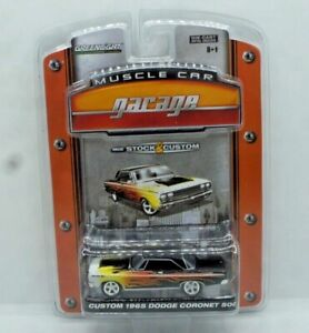 Greenlight Muscle Car Garage Custom 1965 Dodge Coronet 500 Black with Flames NEW