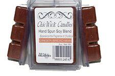 ChicWick Candles 3Pack Gingerbread Man Soyblend Wax melts 9oz 18 Cubes, Wax Tart