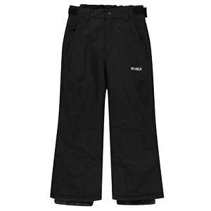 BNWT Nevica Meribel Jnr Boys Waterproof Ski Snowboard Pants Trousers Black 13 Yr