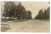 RPPC Street Scene View PHILLIPS WI Vintage Price County Real Photo Postcard