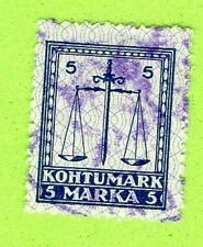 ESTONIA COURT FEE REVENUE STAMP 5 MARKA 532