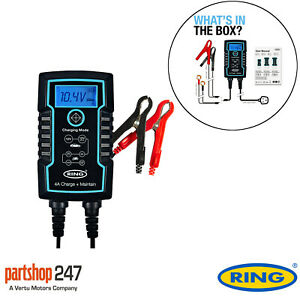 Ring RSC806 6v 12v 6A Start/Stop Car 4x4 Bike Smart Battery Charger & Maintainer