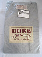 HABAND DUKE GRAY SHORT SLEEVE CREW NECK T- SHIRT SIZE L - BRAND NEW