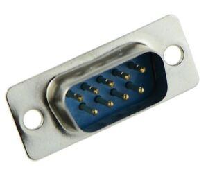 5 x 9-Way D Sub Connector Male Plug Solder Lug