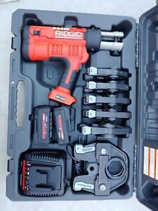 "Ridgid 43358 Rp 340 Battery Press Tool Kit With Six Propress Jaws (1/2""-2"")"