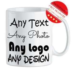 Personalised Mug Custom Text Company Business Logo custom Photo Promotion Gift