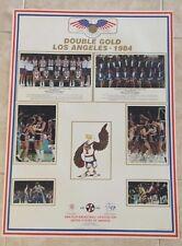 "MICHAEL JORDAN 1984 USA OLYMPIC BASKETBALL 22""x30"" DOUBLE GOLD POSTER BOB KNIGHT"