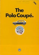 Volkswagen Polo Coupe 1985-86 UK Market Sales Brochure 1050 Fox 1.3 S