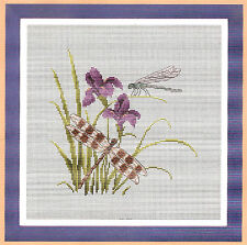 """""""Flower and dragonfly""""counted cross stitch kits"""