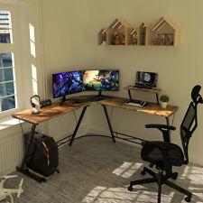 L Shaped Gaming Desk 51 Corner Game Desk Home Office Desks With Monitor Stand