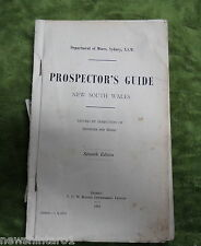 #AA8.  1962  NSW  PROSPECTOR'S  GUIDE, DEPARTMENT OF MINES