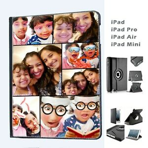 Personalised Collage Custom Logo Your Photo Leather Case Cover for Apple iPads
