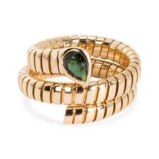Bulgari Serpenti Garnet Tubogas Ring in 18K Yellow Gold