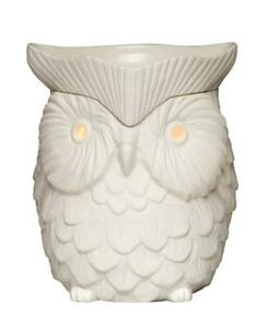 Scentsy White Owl Wax Melting Warmer Light Fragrance Home Decor Discontinued
