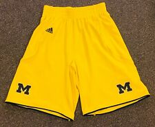 Michigan Wolverines Adidas Basketball Yellow Shorts Medium
