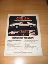 1977 Pontiac LeMans Can Am Vintage Advertisement Magazine Ad FREE SHIPPING