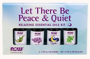 Now Essential Oils Let There Be Peace & Quiet Aromatherapy Kit 4X 10 ML.