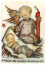 """vintage unused greeting cards  ARS SACRA B.I.Hummel """"merry christmas """"3760"""""""