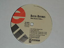 "BUSTA RHYMES when disaster strikes... Lp 12""x2 DOUBLE RECORD SET PROMO"