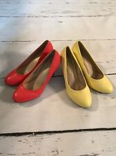 Chase and Chloe Kimmy- 2 High Heel Lot-1 in Cayenne Pepper Red 1 Yellow Size 8.5