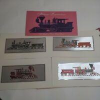"Historic Locomotives A Portfolio of Color-Etch Prints 10"" x 4"" Howard Johnson"