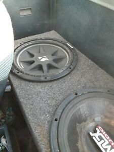 Amp works perfect the box is in great shape. The kicker comp soeaker is brand...