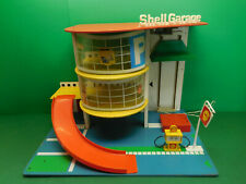 SHELL Garage elektrischer Aufzug Tankstelle Parkhaus Parkdeck 1:43 petrol pump