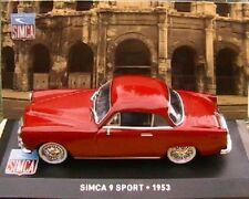SIMCA 9 SPORT 1953 IXO ALTAYA 1/43 RED ROUGE EN BOITE ROSSO ROT NEUF